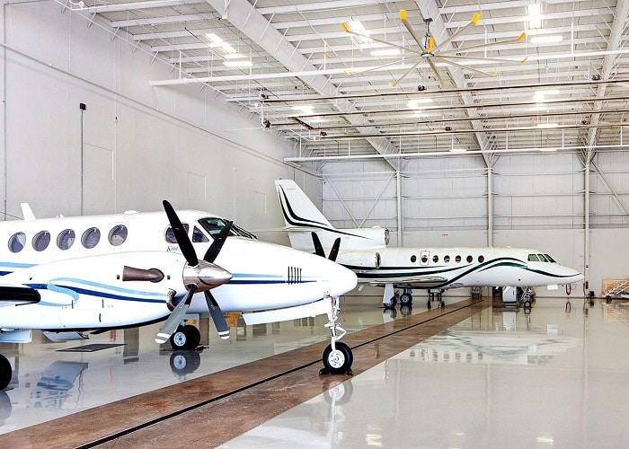 Private Aviation Hangar Fans